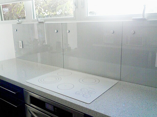 Clear glass backsplash design decoration for Back painted glass tile