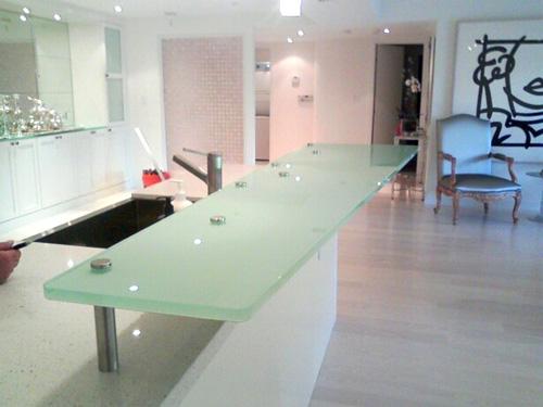 Glass Bar Top