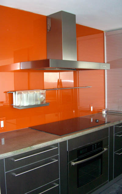 glass backsplashes
