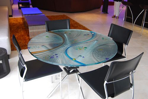 how to paint a glass table top 1