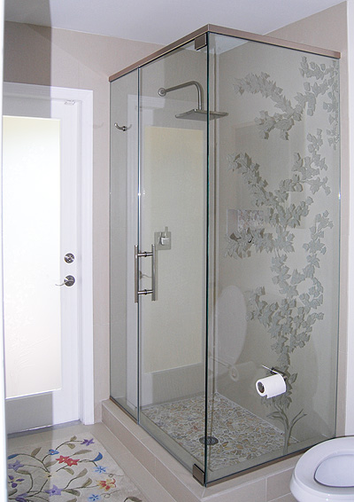 Frameless Corner Shower Stalls
