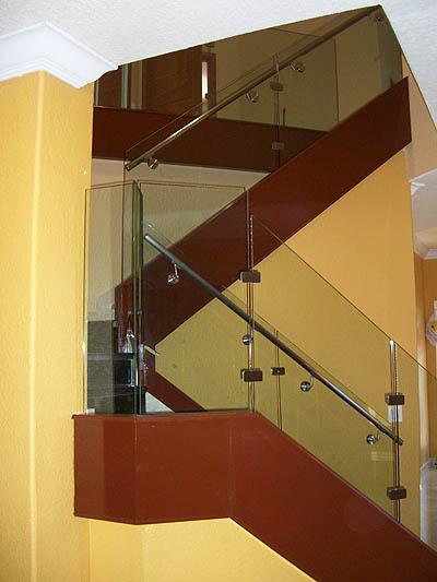 Post-less glass railings