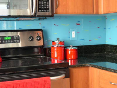 Painted Glass Backsplash 3