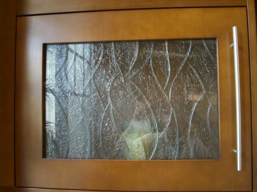 Hand Carved And Textured Glass For Cabinet Door Inserts Artistry